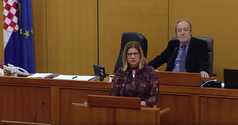 HSS | Hrvatski sabor | Ana-Marija Petin rasprava